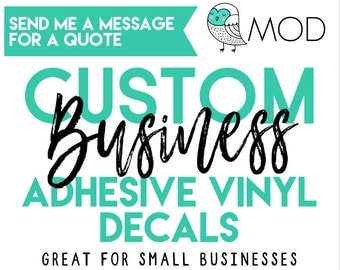 Custom Business Logo - Custom Decals - Company Logo Decals - Fundraiser - Stickers - Adhesive Vinyl Decals - Bulk Order Decals - Car Decals