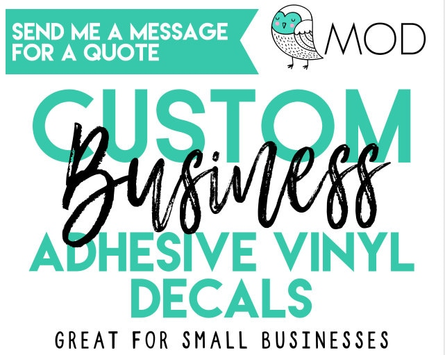 Custom Business Logo Custom Decals Company Logo Decals - Custom vinyl stickers logo