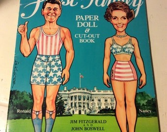 Vintage First Family paper doll book