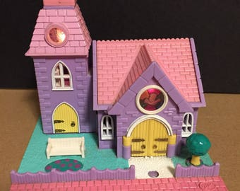 1993 Bluebird Polly Pocket Chapel ** lights work