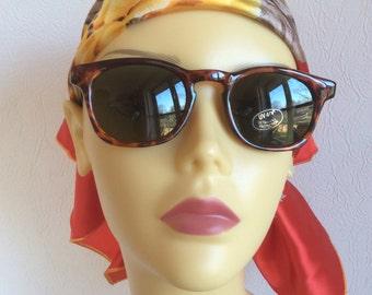 Vintage Sunglasses Amber Look Mock Tortoiseshell  Black Legs Geek Chic New Dead Stock Geeky Festival Holiday Travelling Travel c1980s