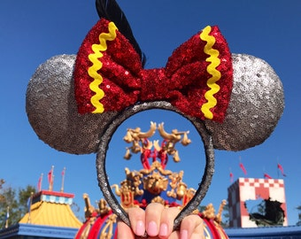 Dumbo Inspired Minnie Ears- Ready to ship in 7-10 days