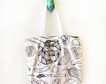 Tote - Reversible Grocery Bag