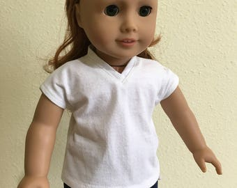 """V-Neck T  American Girl and 18"""" dolls"""