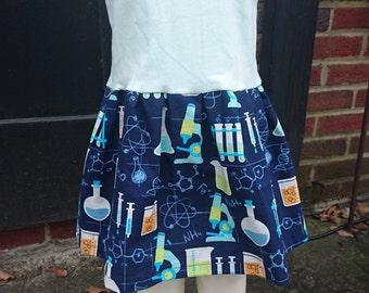 Science Dress - chemistry microscope flasks t-shirt party dress size 2t