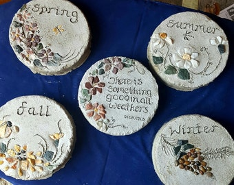 Set of 5 seasons stepping stones