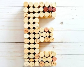 wine cork letter 12 inch wine cork monogram wedding decor wedding decoration upcycled wine cork letters