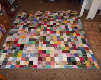 Scrappy Patchwork Quilt - Full Size Quilt