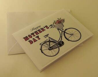 Vintage Bicycle Mother's Day Card