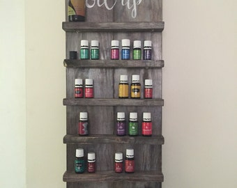Essential Oil Storage Shelf - Distressed Wood - Hand Made