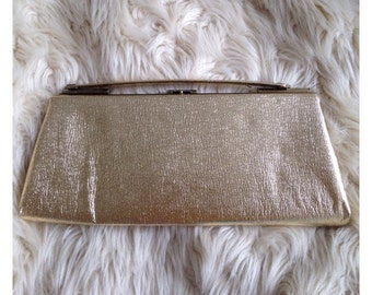 Vintage Gold Metallic Purse