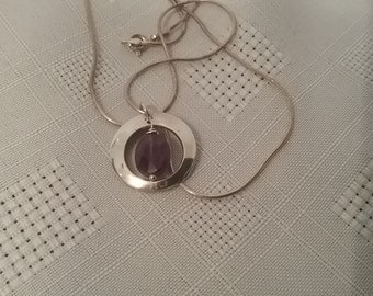 Silver and Amathyst Colour Necklace