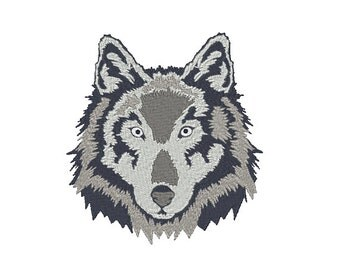 Grey Wolf Machine Embroidery Design
