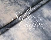 Grey Chiffon Gray tonal Printed Silk Grey Marble