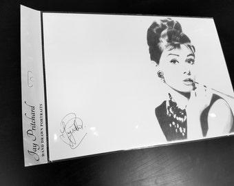 Audrey Hepburn pencil drawing