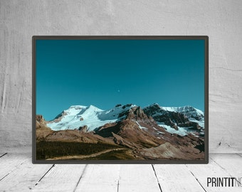 Mountains Photography, Modern Contemporary, Large Printable Poster, Digital Download, Modern Minimalist Landscape Decor