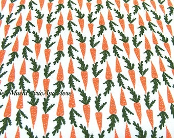 Miniature Mini Carrots Fabric~by the 1/2 yd~Windham Fabrics~ Gardening~Vegetables~Cotton~Garden