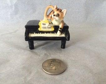 Tiger Cat Playing Piano