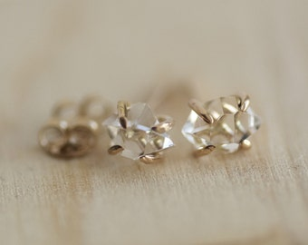 Herkimer Diamond Earrings. Herkimer Studs. Herkimer Earrings. Herkimer Diamond Studs. Crystal Stud Earrings. Diamond Studs.