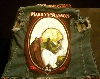 Handmade and Handsewn Marilyn Manson Battle Vest!!