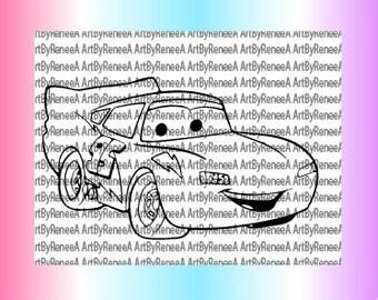 Lightning McQueen SVG only