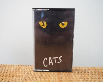 vintage 80's CATS tape cassette // Broadway Musical Soundtrack