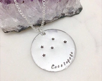 Cassiopeia constellation necklace - Cassiopeia necklace - zodiac necklace - star sign necklace - Mother's Day Gift - gift for her - fangirl