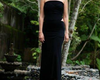 SIMPLE CHIC long transformer bamboo dress