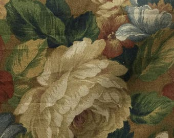 Floral Print Drapery Fabric - Upholstery  Fabric By The yard  - Fast Shipping