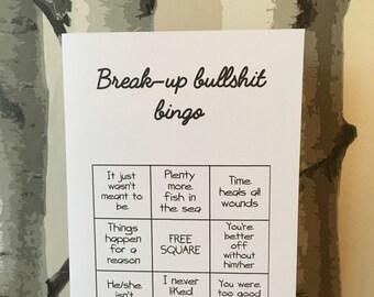 Funny break-up card