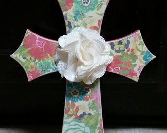 Cross with Flower
