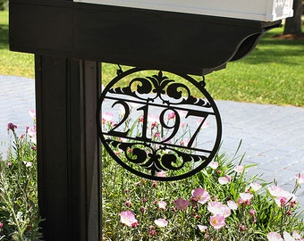 Metal Address Sign