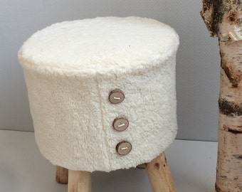 Tough stool with soft cloth of cotton