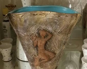 Zaccagnini, Gambone, Raymor, Bitossi, Rosenthal Netter, Fine Art Ceramic Vase, Mid Century Italian Pottery