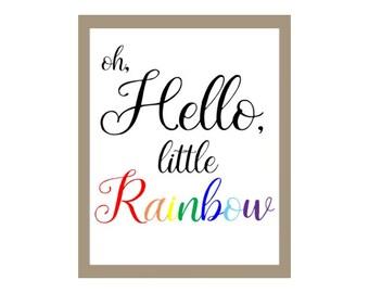 Rainbow Baby Nursery Print, Rainbow baby print, Rainbow baby, Pregnancy announcement, Rainbow Pregnancy, Miscarriage Awareness, Baby Shower