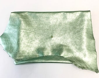 Metallic Clutch, Metallic Oversized Clutch, Green Metallic Clutch