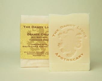 Orange and Rosemary Soap enriched with Shea and Avocado Butters.