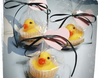 Cupcake SOAP glycerine with duckling