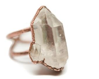 Quartz Cluster Über Statement Ring // Adjustable Crystal Statement Ring