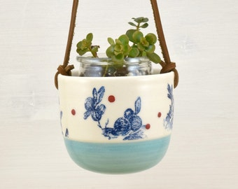 Planter for small pot Riviera - turquoise