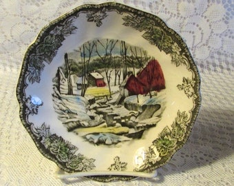 Johnson Bros Friendly Village Saucer,  The Ice House Vintage Replacement Saucer