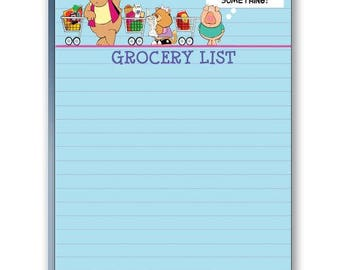 Funny Grocery List Note Pad - 2 Cute Note Pads - 35003