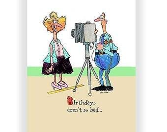 Birthdays Aren't so Bad, It's the Drivers License Photo Birthday Card - Funny Birthday Card - B00RW52568