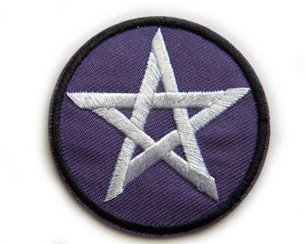 Pentacle Embroidered Patch Appliqué