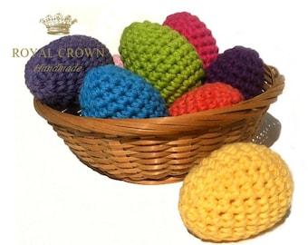 Easter Eggs,Easter Egg Decor,Crochet Easter Eggs,Stuffed Easter Eggs,Crochet Easter Decor,Egg Ornament,Spring Decoration,Hand Crochet Egg