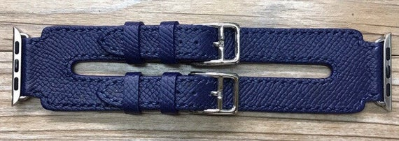 Apple Watch Band | Apple Watch Strap | Double Buckle Cuff Watch Band | Bleu Agate Double Buckle Cuff For Apple Watch 38mm & 42mm