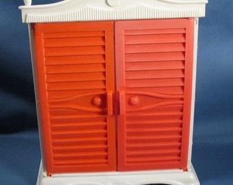 Vintage Plastic Doll Armoire