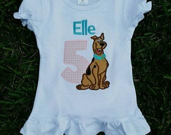Scooby Doo Birthday Shirt, Girl Scooby Birthday Shirt, Scooby Birthday Shirt