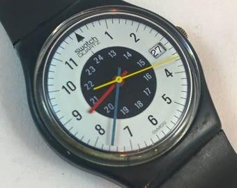 "1984 ""Chrono-Tech"" Vintage Men's Size Swatch Watch / GB403 / RARE"
