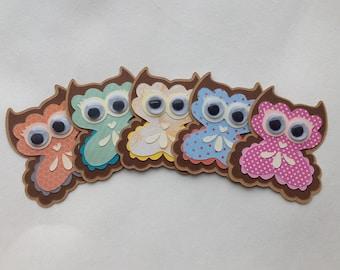 Owl die cuts